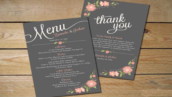 wedding menu - 1