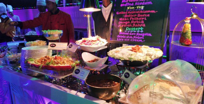 Lafiesta Menu Table with salads